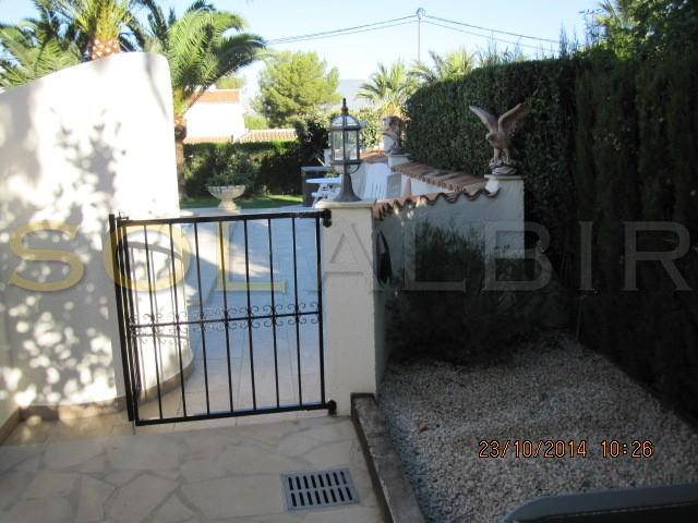 The entrance to the garden from the back yard