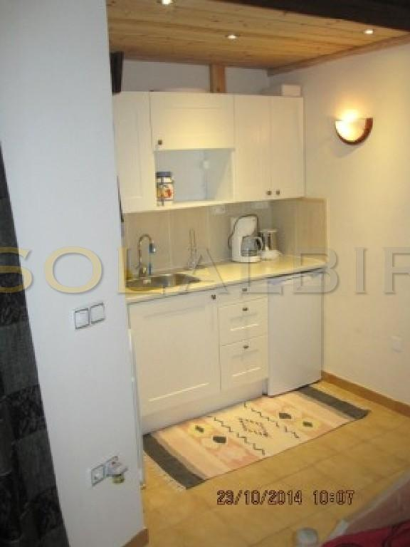 and a small, but practical kitchenkitchen