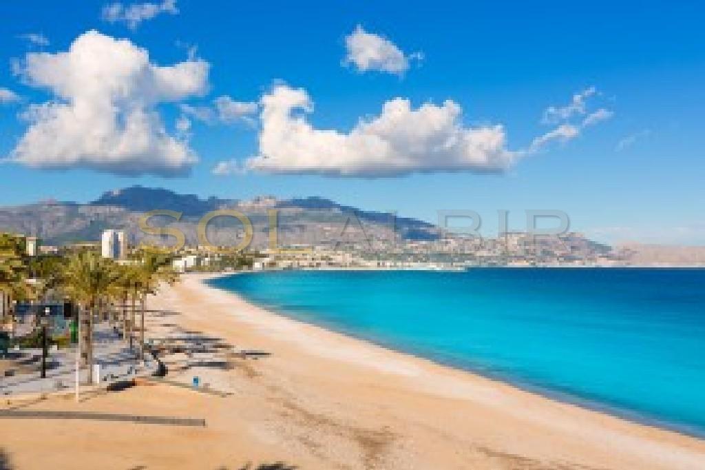 The nice beach of Albir
