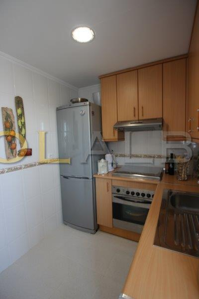 Nice, fully equipped kitchen with cloak room