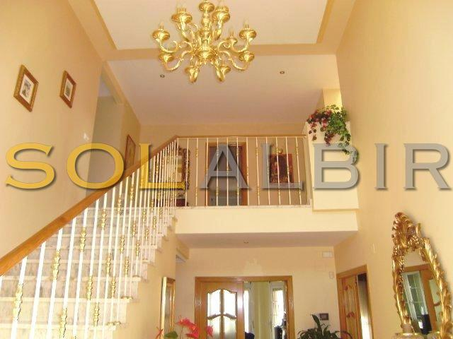 Luxury and elegant staircase with gallery
