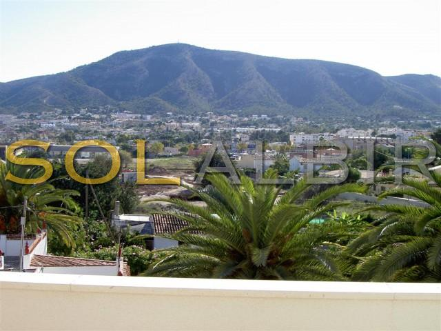 Mountain views from the terraces