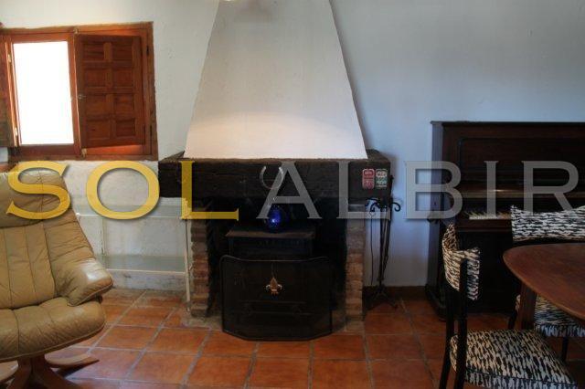 livingroom with chimeney