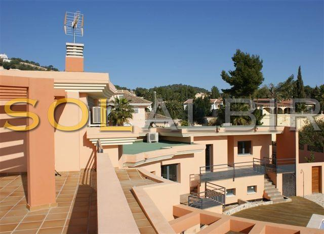 View of the house from the roof terrace