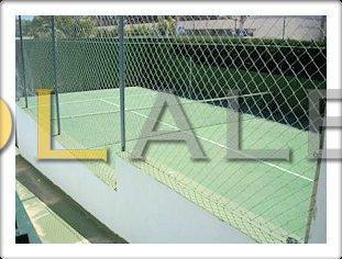 The community tennis/paddle court