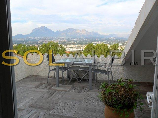 Montain views from the solarium