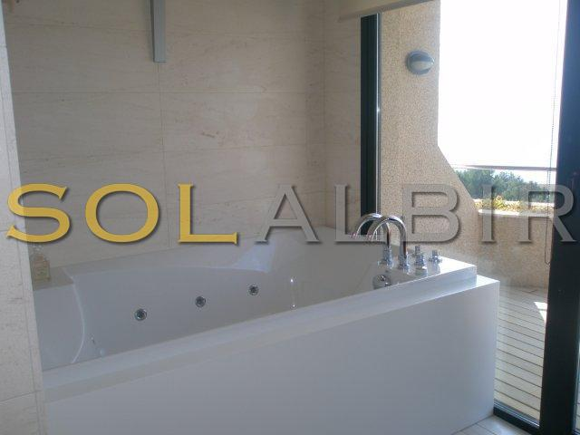 Bath with views