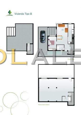 The plan of the house type B
