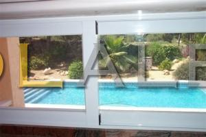 window view to the pool