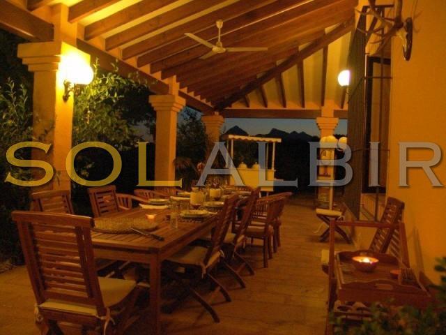 Summer dining area