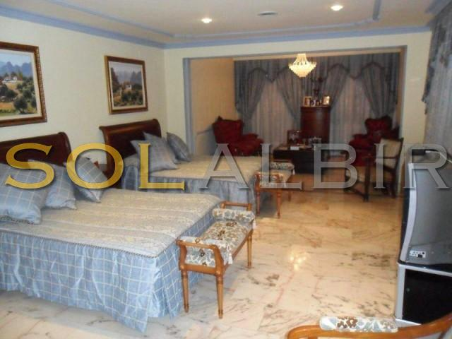 Bedroom with sitting room