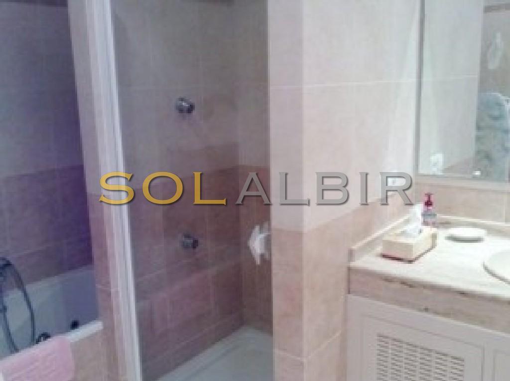 Bathroom 1 with shower and bath
