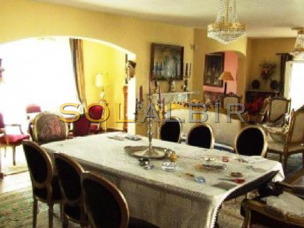 Another angle of the great living room and dining area