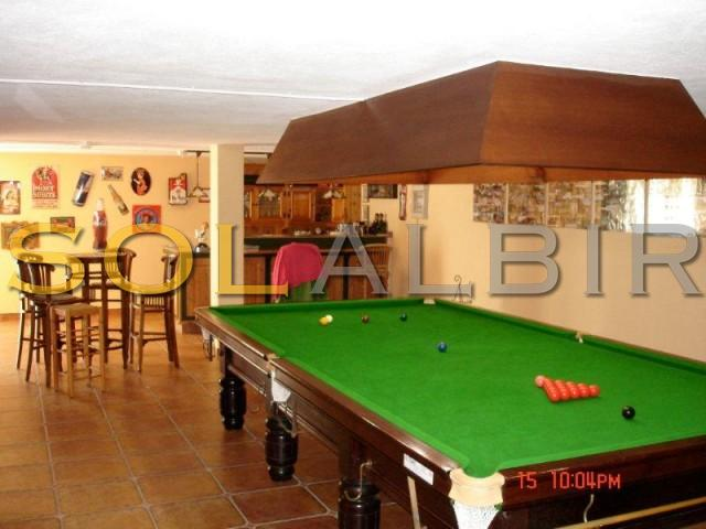 Poolroom with bar