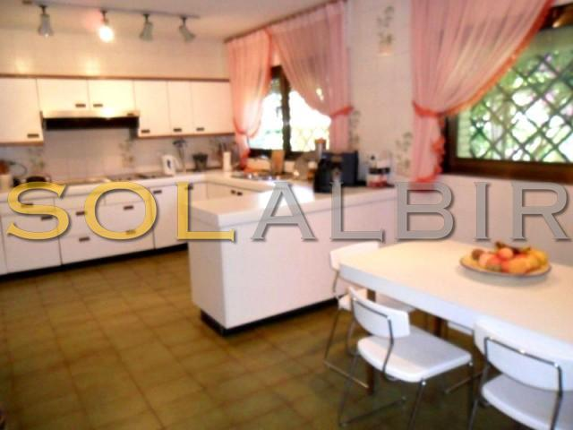 Ample kitchen with dining area