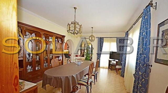 Ample dining room
