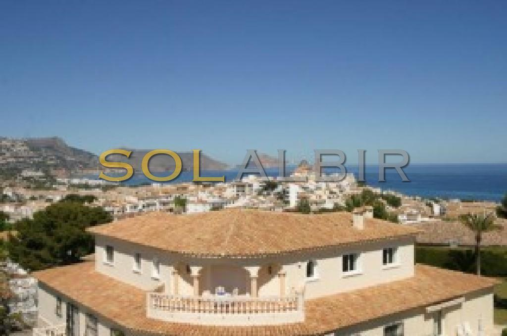 Sea and the Altea town view from the house