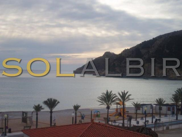 Albir beach view from the living room