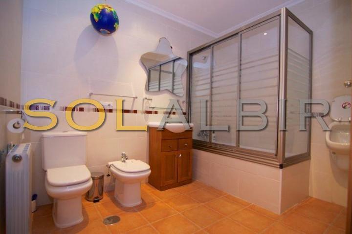 The bathroom with pissuar ground floor