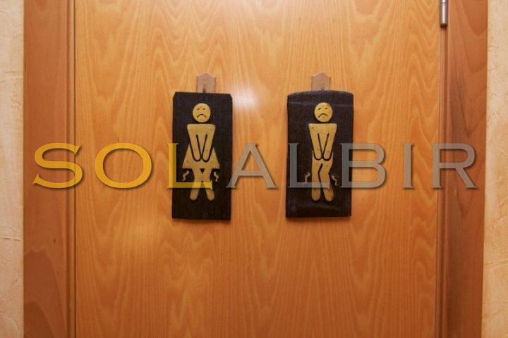The entrance to the bathroom for guests