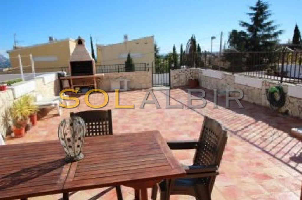 Large terrace and barbecue area