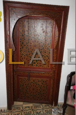 Antique doors and  tiles, brought from Morocco