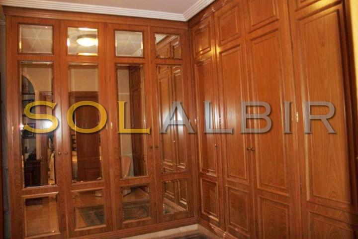 Dressing room in the master bedroom