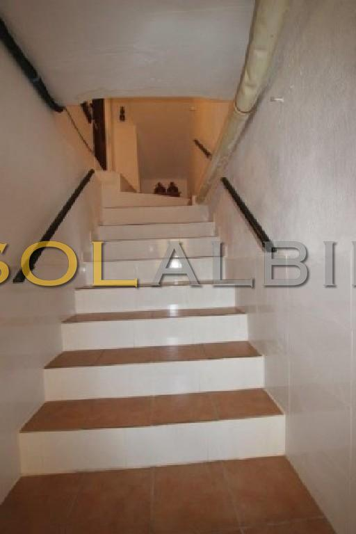 The stairs down to the cellar