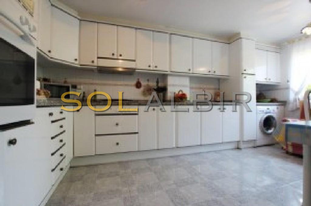 Ample kitchen
