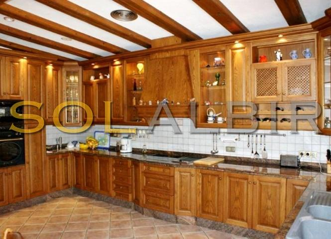 The large kitchen