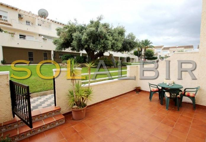 Fantastic patio with fabulous views to the community garden