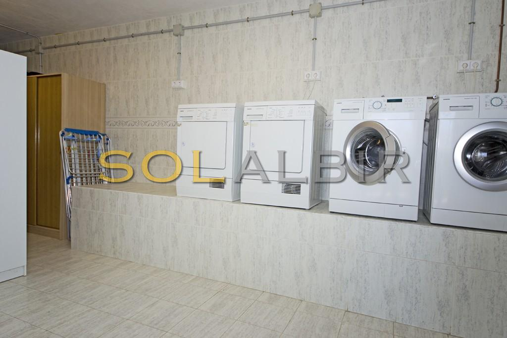 The commun laundry room