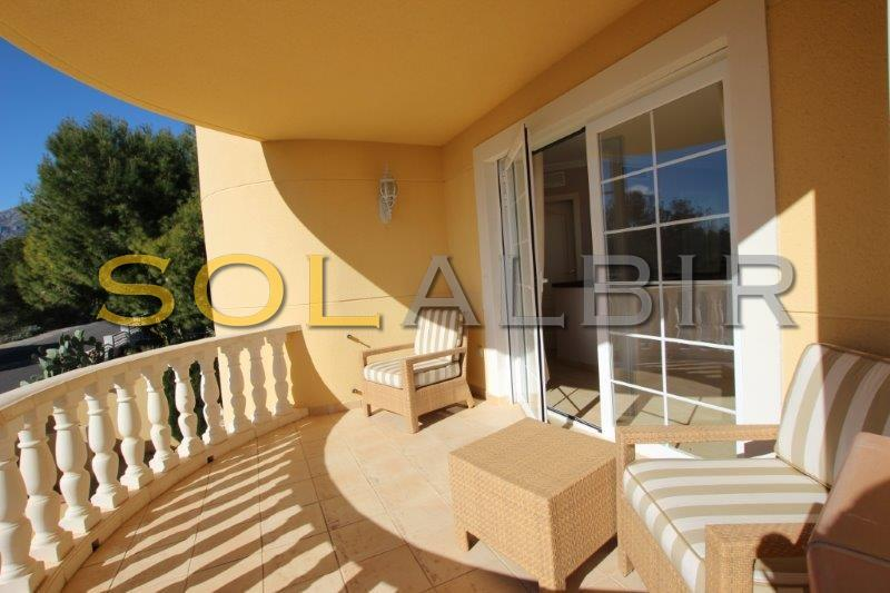 Southfacing terrace in the main house with views towards Benidorm