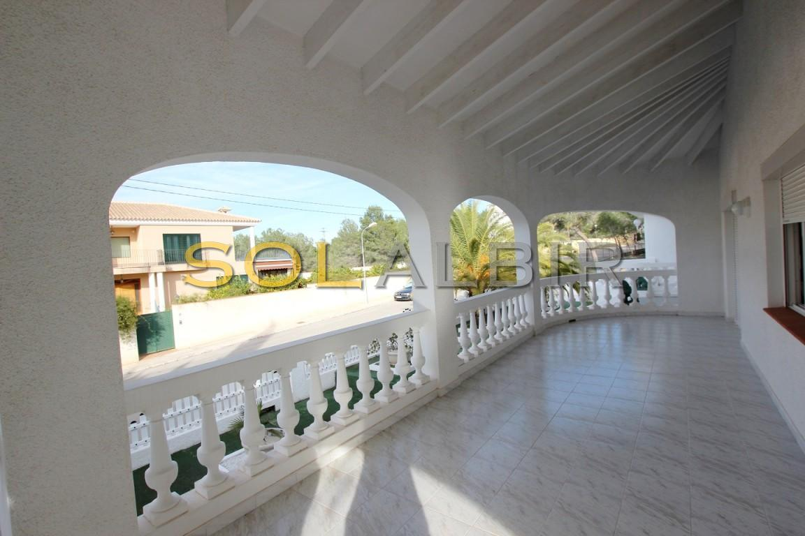 The covered terrace