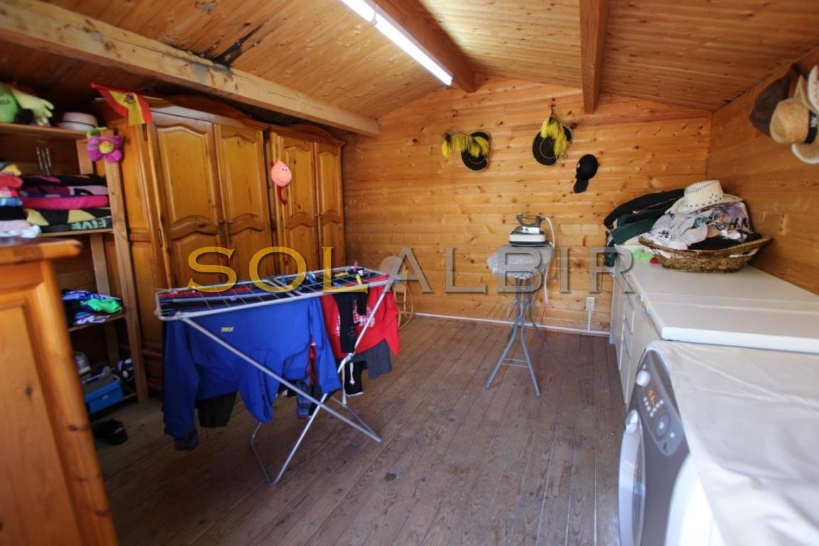 Inside wood house