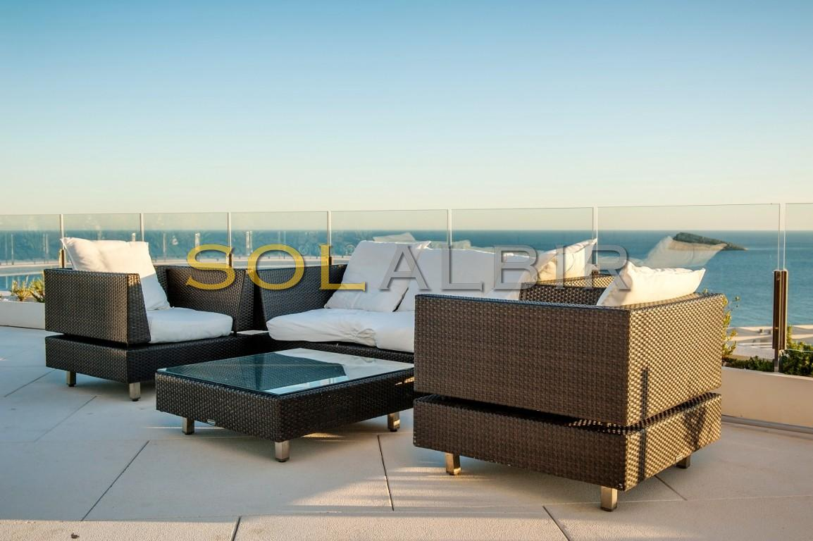 Chill out area overlooking the sea