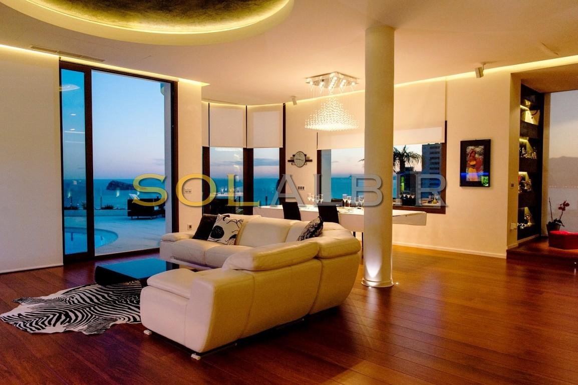 Living room in the night