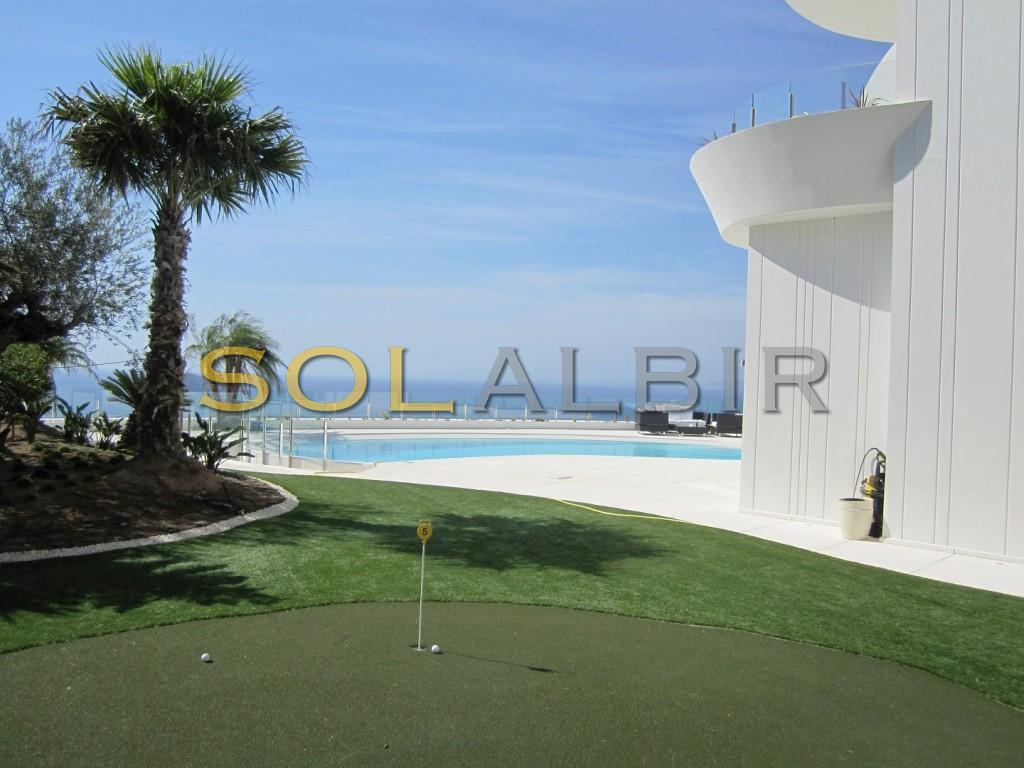 Golf inside the villa