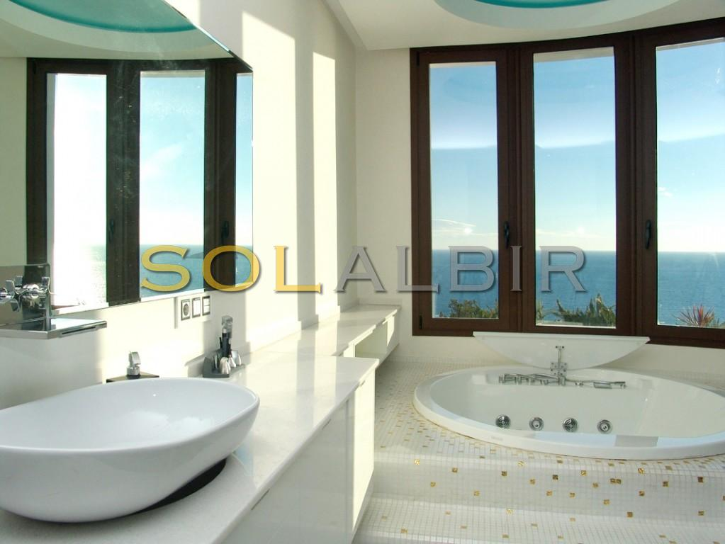 Sea views from the bathroom