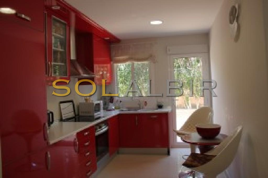 Fully equipped kitchen with exit to a nice outdoor area