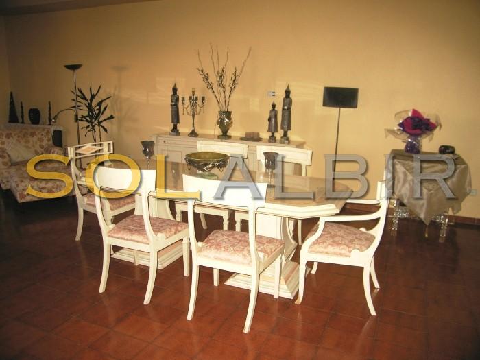 The dinner area