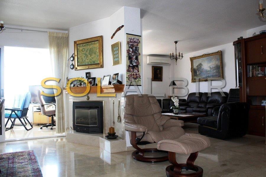 livingroom with chimney