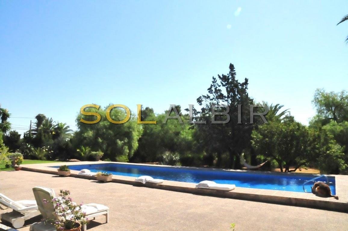Large, private swimming-pool