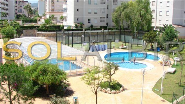 Two community swimming-pools