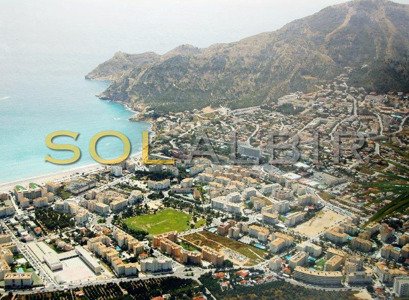 The overview of the beautiful Albir bay