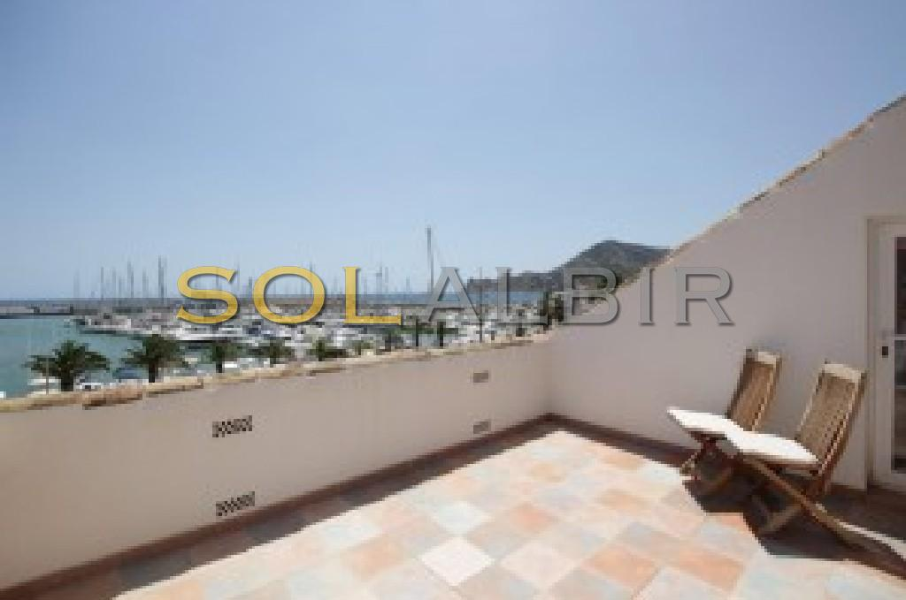 With private terrace overlooking the harbour