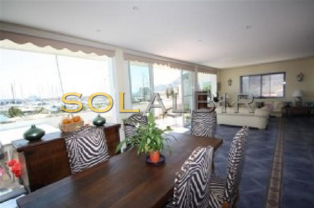 Big living-dining area with fantastic views
