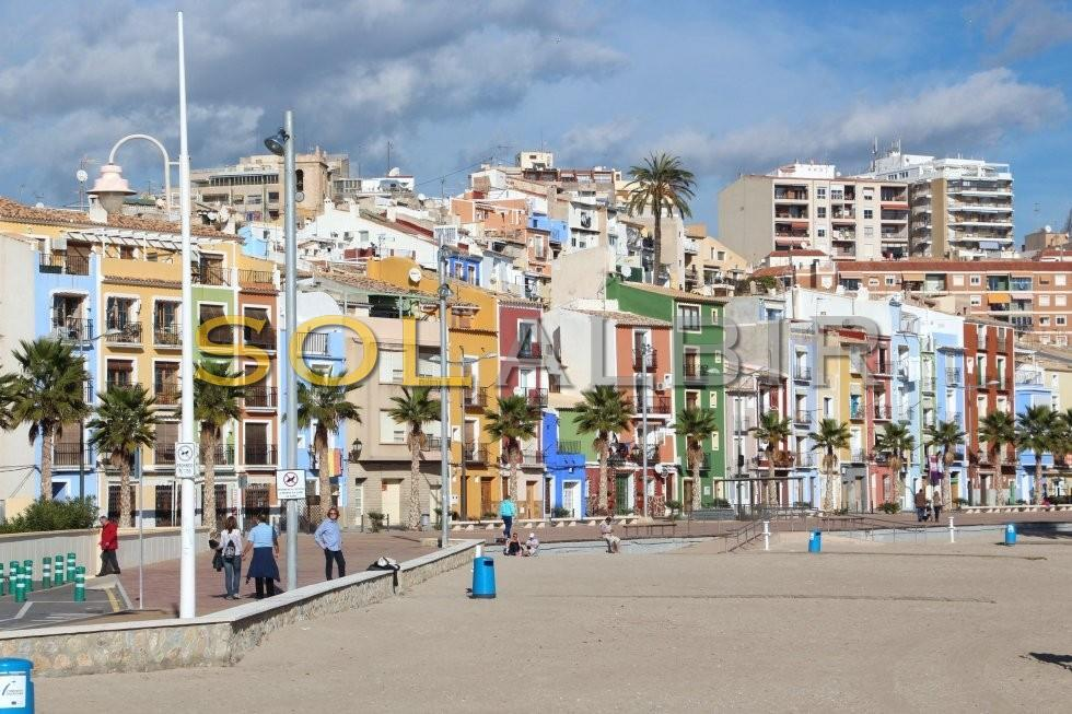 Typical town houses of Villajoyosa
