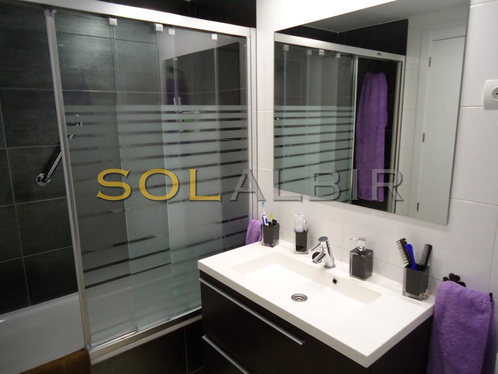 Bathroom 1 with bath/shower