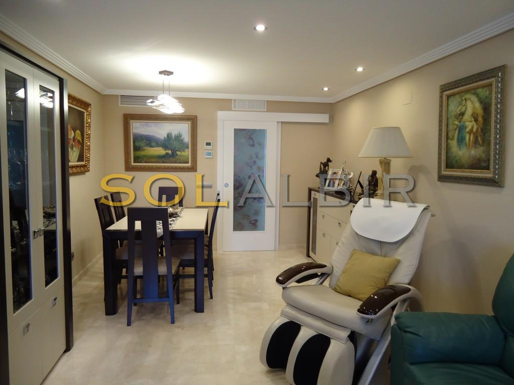 Living-room with dining area